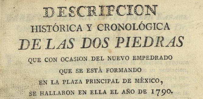 Dos piedras: México (1790)