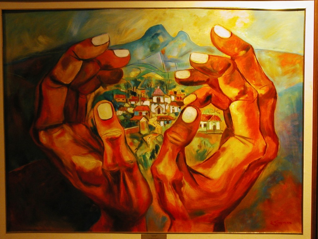 """Lugar Natal"" (1989) por Eduardo Kingman (Ecuador)"